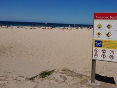 タマラマビーチ。 ボンダイビーチよりかなり小さい。