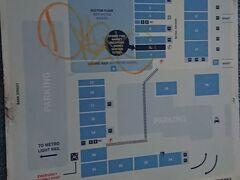 この旅の目的の一つ、フィッシュマーケットに早朝向かいました。構内の地図です。