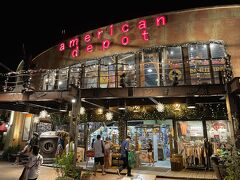 ameican depotは、古着やアーミーの服が充実している。嘉手納アーミーのTシャツを購入