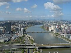 ばかうけ展望台から信濃川方向を展望。