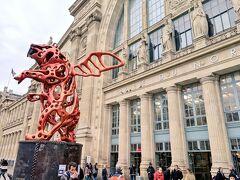 2019/12/19 翌日になっていよいよパリ市内へ。 RER B線で北駅から入りました。  大学一年のとき初めてパリに来たときも隣国ベルギーからリール、アミアンを経て普通列車で北駅に到着したので、私にとって思い出深い場所です笑