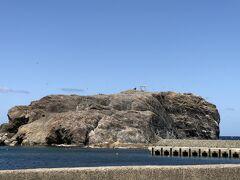 経島の写真を急いで撮ります。