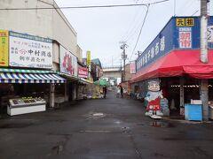 =函館朝市= お店は営業していますが、人がいません。
