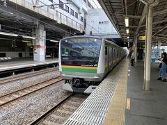 小山からは上野東京ラインに乗りました。