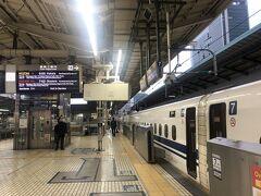 東京駅朝6時発のNOZOMI the firstも久々。
