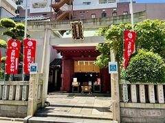 次は、寿老神の笠間稲荷神社へ。 寿老神は長寿の神様。 徒歩で5分かからず到着。