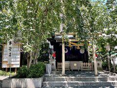 七福神めぐり、最後は布袋尊の茶ノ木神社です。 笑う門には福来る、夫婦円満の神様でもあります。  小網神社から5分ほどで到着。