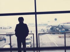 成田国際空港からJALで上海へ向かいます。
