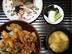 厳かな気分になってもやっぱりお腹はすくもの。気付けば8時近くになっていたので、夕食は京都駅でとることに。 「はしたて」さんをのぞいてみたら、ラッキーなことにすぐに入れました。かき揚げ丼と炙り鯖寿司をいただき大満足 ^^