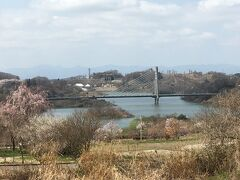 さくら湖と春日大橋。