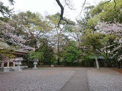 林の先は山内神社。 すっきりとした境内は誰もおらず静かです。