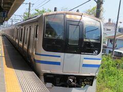 4月21日午後。 JR横須賀線の従来車(E217系)でスタート。 それまで活躍していた国鉄時代製造の113系から置き換え用として1994年に登場。 当時は斬新な「顔」に見えたこの車両も、登場から27年経ちました。