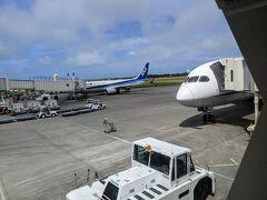 宮古空港到着はほぼ定刻。