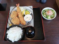 1628円と中々の値段でしたがジャンボ海老フライは食べごたえがありました。