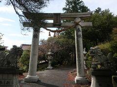 「雲仙地獄」入口すぐそばに、「温泉神社」。  今回は、鳥居だけ♪。