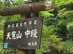 ◆「天覧山 中段」の看板  ※07:38撮影  【注】「登山ガイドブック」等に必ず出てくるポイントです!