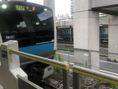 6時ちょい過ぎの京浜東北線でしゅぱーつ。