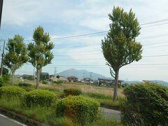 山が見えて来ました。