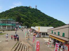 女体山から15分位で男体山が見えてきます。