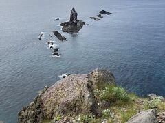 ここが神威岬の先端の先端。望むは神威岩。