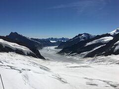もうやり切った感でいっぱいですが、せっかくなのでスフィンクス展望台からアレッチ氷河を見ておきます。