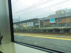 能登川駅で新快速に乗り換えです。