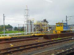 恵那駅です。明知鉄道の乗換駅です。