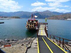 河口湖遊覧船を利用。