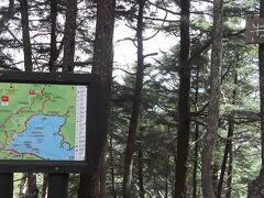 歩き始めから約3時間で半月山(1,753m)