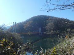 前に見えるのが『箱ケ瀬橋(夢のかけ橋)』です。