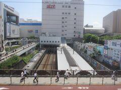 大井町駅に到着(アトレの2階から撮影)
