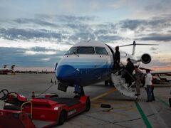 11月14日 成田国際空港→シカゴ経由でアトランタに向かいます。米国入国審査を済ませて、シカゴで乗り換えた航空機は、小さめの中型機でした。アトランタを訪問する人は、多くありません。