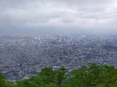 札幌中心部 大通公園やテレビ塔が見える