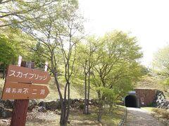 この後は上野村の名所「スカイブリッジ」に行くのですが…この先はトンネル!?