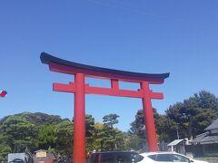 赤い鳥居。 久しぶりの鶴岡八幡宮。