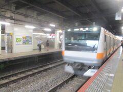 5:43発 国分寺駅 JR中央線で高尾駅で乗換、JR韮崎駅に向かう。