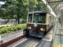 西武球場前駅から西武山口線に乗り換え 既にアトラクションのような雰囲気の電車です(゚∀゚)