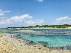 干潮時間の仲本海岸。 海がプール状になって、シュノーケルしやすいです