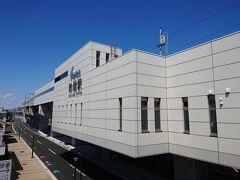 さぁて、浜松駅に戻ろっと。 これがお風呂の最寄り駅、助信駅です。立派ですよね。