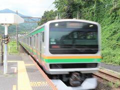 東海道線に乗って帰路に就きます。