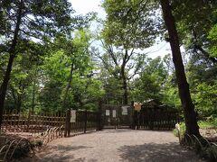 御苑の 北側の門がありました   普段は 500円で 入苑できます 「加藤清正の池」も御苑の中です