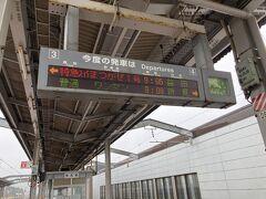 シャトルバスで出雲市駅に到着した後は、最初の目的地石見銀山の最寄駅、大田市まで行きます。時間節約で特急に乗ります。