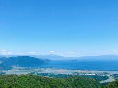 山道をくねくね上って来たので、山の上から眺める琵琶湖が本当にキレイでテンション上がった1日でした!