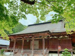 国宝の本堂。 青もみじの鮮やかな緑と、木造建築が合います。 鎌倉時代初期に建立されたものだそうで、釘を1本も使用せず建てられています。 このような事実を知ると、昔の人は凄いね!と毎回小学生みたいな感想しか出てこない自分が恥ずかしいですが、この素晴らしさ、歴史の奥深さなどに、学生時代にもっとのめり込むことが出来ていたら、日本史をもっと好きになっていたんだろうな…って思います。