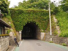 大沙川隧道 木を伐採しすぎると雨水が土砂を下流に持ち出してしまい中流の川底が高くなる。やがてその下を貫く。川底が高くなった川を天井川と呼ばれ、滋賀県に多くある。  このトンネルもその自然現象から生成された土手を貫いたもので隧道と呼ばれる。