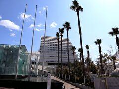 椰子の木とメリケンパークオリエンタルホテル☆ まるで、リゾートそのものですねー。 あ~、リゾートしたい!!(笑)
