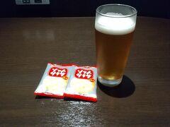 GOTOトラベルを利用して旭川に行ってきました。 始まりはJALのサクララウンジ in羽田空港。  ビールをいただきました☆