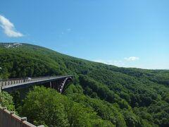 城ケ倉(じょうがくら)大橋 高さ122メートル 城ヶ倉渓谷と八甲田連邦のパノラマが見えます。
