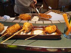 富雄駅で、ランチ。 串揚げ専門店桃花源。  めちゃくちゃ美味しいです! サクサク、四種類のスパイス。