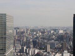 正面に羽田空港を望む。